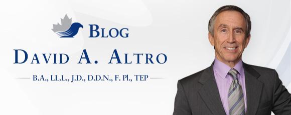 Blog by David A. Altro