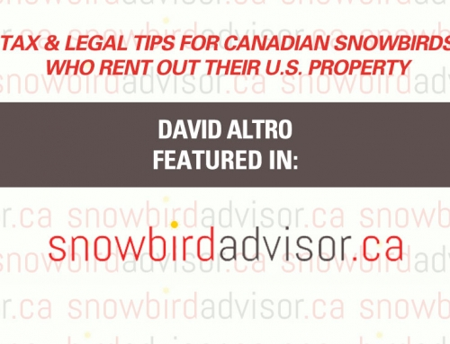 SnowbirdAdvisor.ca – Tax & Legal Tips for Canadian Snowbirds Who Rent Out Their U.S. Property