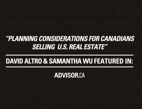 Advisor's Edge – Planning considerations for Canadians selling U.S. real estate