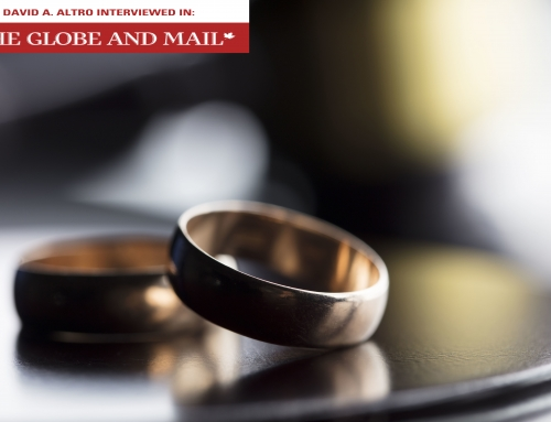 David A. Altro Interview: The Globe & Mail – Prenup: Romance killer or wealth protector?